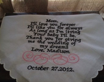 mother of the bride hanky