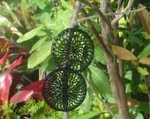 Crcoheted Dreamcatcher Earrings in Black