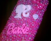 Barbie Iphone 4/4s case with pearls