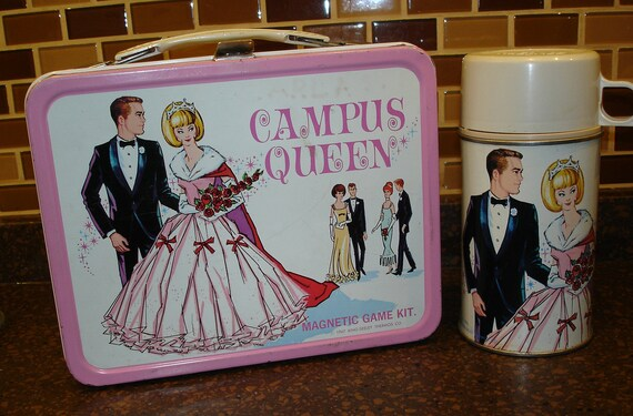 Campus Queen Lunch Box and Thermos from 1967