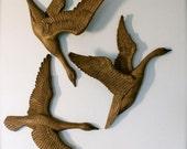 Set of Three Vintage Flying Geese Wall Hangings