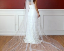 Ivory Shimmer Bridal Veils White SparkleTraditional Cathedral Wedding Veils 120 Inches Long Tulle Sparkle Hair Comb