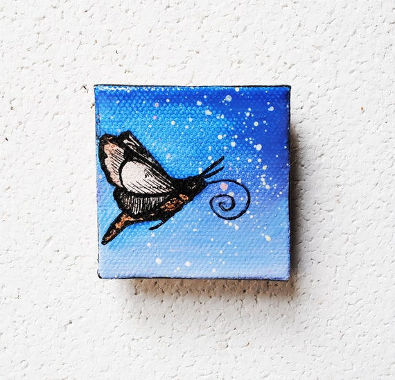 SALE: Hawk Moth  -Evening Sky.  Original Oil Painting.  Dusk.