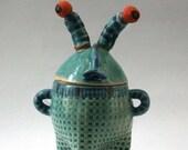 Blue Sugar Bowl - Unique Handmade  Design