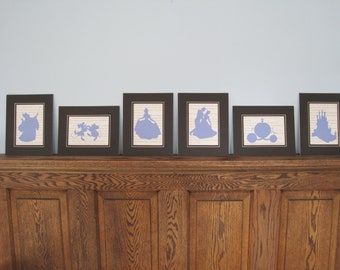 1 5x7 Cinderella Silhouette - You pick one!