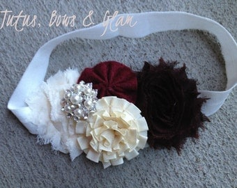 Vintage Headband- Fall colors