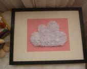 Handmade White & Pink Chiffon Cloud