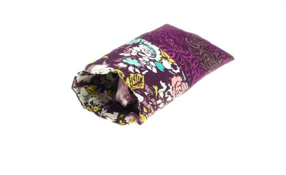 fabric sunglasses case, eyeglass holder, glasses pouch, padded, purple, plum, eye glass sleeve, aqua, autumn fall colors, feminine accessory