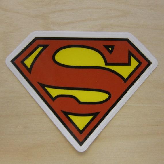 Superman Sign Sticker, 100% Waterproof Vinyl Transparent Sticker, Pop Culture Sticker