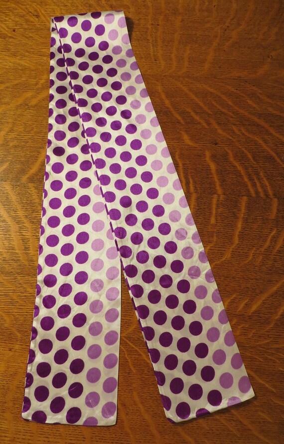 Purple Polka Dot Head Scarf Vintage Fashion Accessory