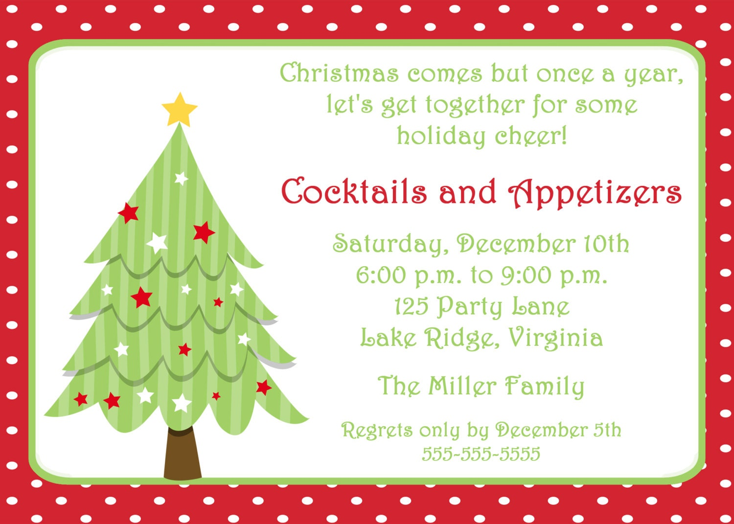 christmas invite templates ing christmas party printable christmas tree invitation by noteworthyprintables