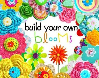 Digital Clip Art -- Build Your Own Blooms (Instant Download)