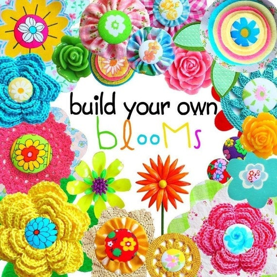 Digital Clip Art -- Build Your Own Blooms (Instant Download)