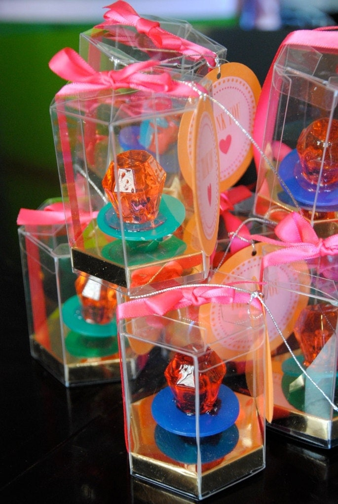 100 ring pop favor boxes box only by candycrushevents on etsy for Cute engagement ring boxes