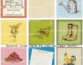 Direct from farm to you Digital collage sheet for your garden crafts, scrapbooking, game cards and more