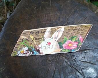 Bunny Rabbit Ephemera Advert Rare Piece FREE Shipping