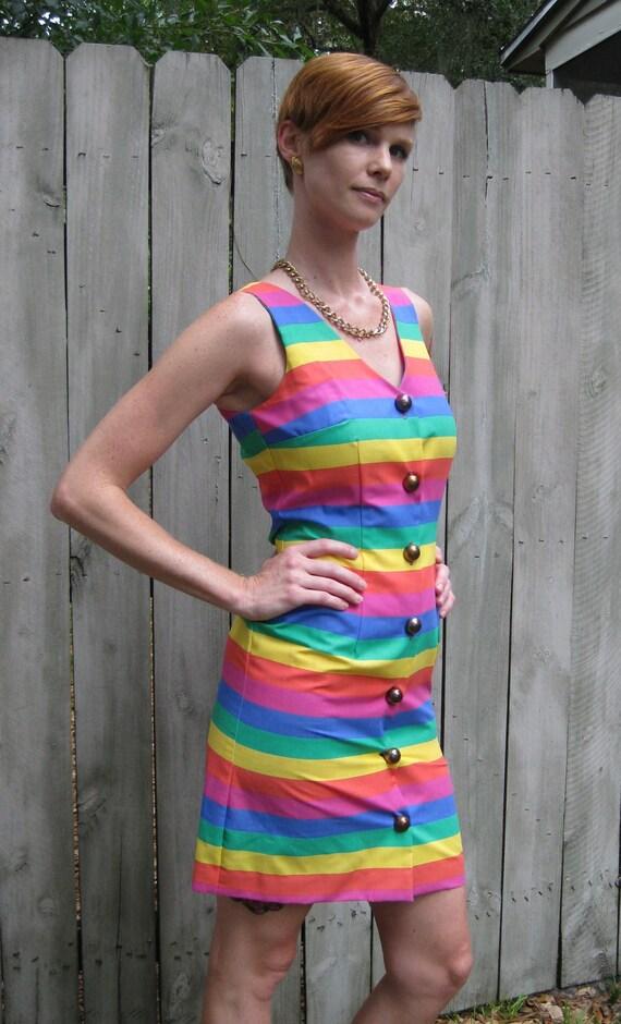 Vintage Rainbow/Pride Dress, Dawn Joy Fashions