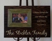 Personalized  Family Name with Scripture or quote Wedding or anniversary Oak Wood Picture Frame Plaque 18x12