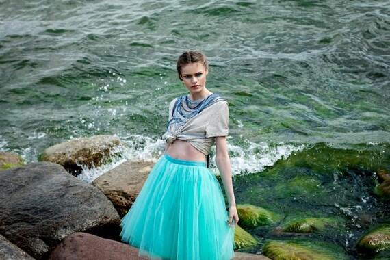 Adult emerald tutu skirt, tulle skirt, petitcoat