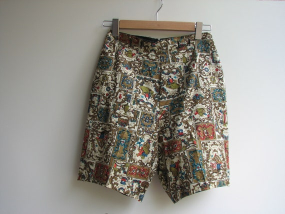 1950s Vintage Shorts, High- Waisted with Zipper up back