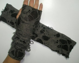 Roc brown fingerless gloves