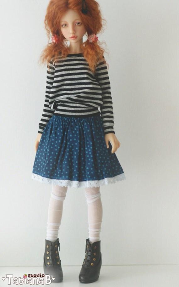 Blue Skirt with a Yoke for Narae/HeeAh