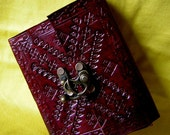 handmade leather journal notebook with recycled paper