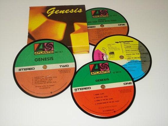 Genesis Coasters vinyl record coaster set