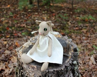 Stuffed Fabric Cat Doll - Plush Cat Toy - Plush Animal - Softie Kitty Cat -Rag Cat Toy