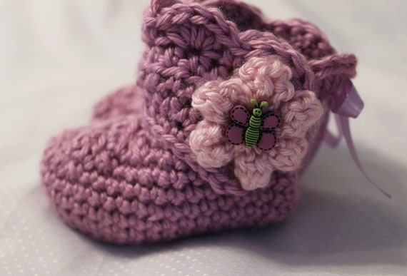 SALE - Baby Booties  3 to 6 Months