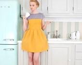 Elegant orange kitchen apron