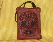 sugar skull wristlet / coin purse