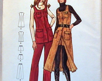 Vintage Butterick Pattern 6378 Sz. 8 NOS Miss Petite and Misses Jumper, Tunic, Pants and Shorts