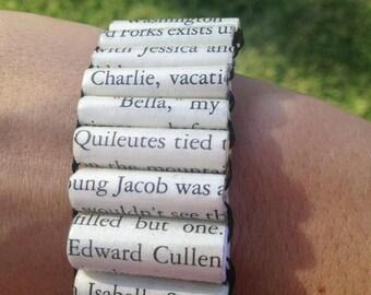 Twilight Paper Bead Bracelet, Twilight Edward, Twilight Book, Twilight Jewerly, Twilight Bracelet, Twilight Bella, Twilight Vampire