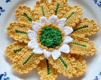 Crochet Flower in 3-1/2 inches YH-36