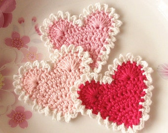 3 Crochet  Hearts  YH -118-01