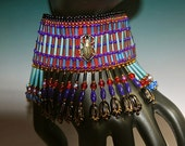 Egyptian Art Deco Challenge Cuff with Scarab