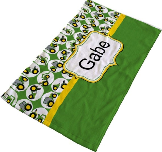 John Deere Bathroom Decor: Items Similar To John Deere Tractor Personalized Towel For
