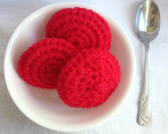 Crochet Pot Scrubbers  3 Nylon Scrubbies