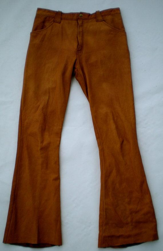 70 S Men S Brown Leather Pants