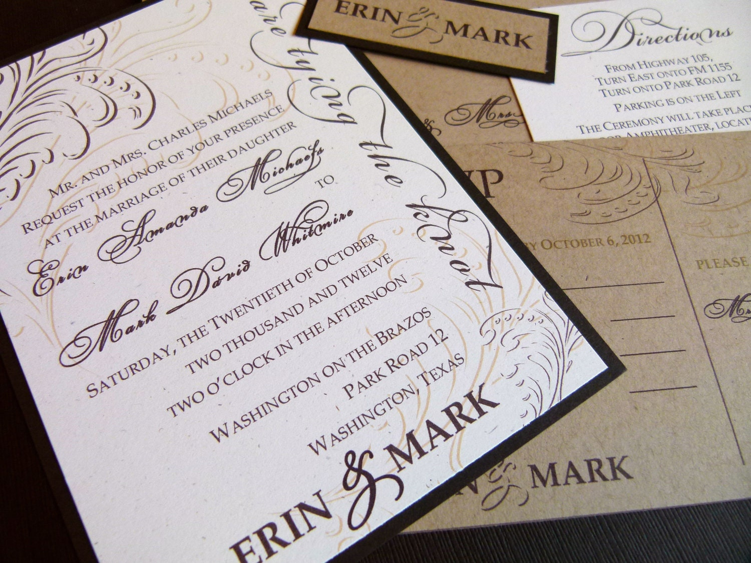 Wedding Invitations Recycled Paper: Rustic Elegance (Recycled Paper