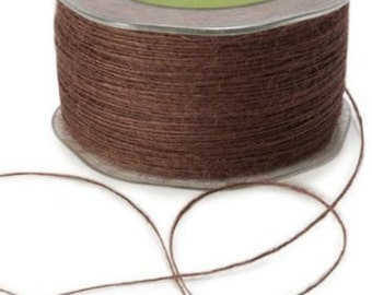Brown Burlap String - 20 Yards, Rustic Embellishment for Gifts, Crafts, Weddings and more