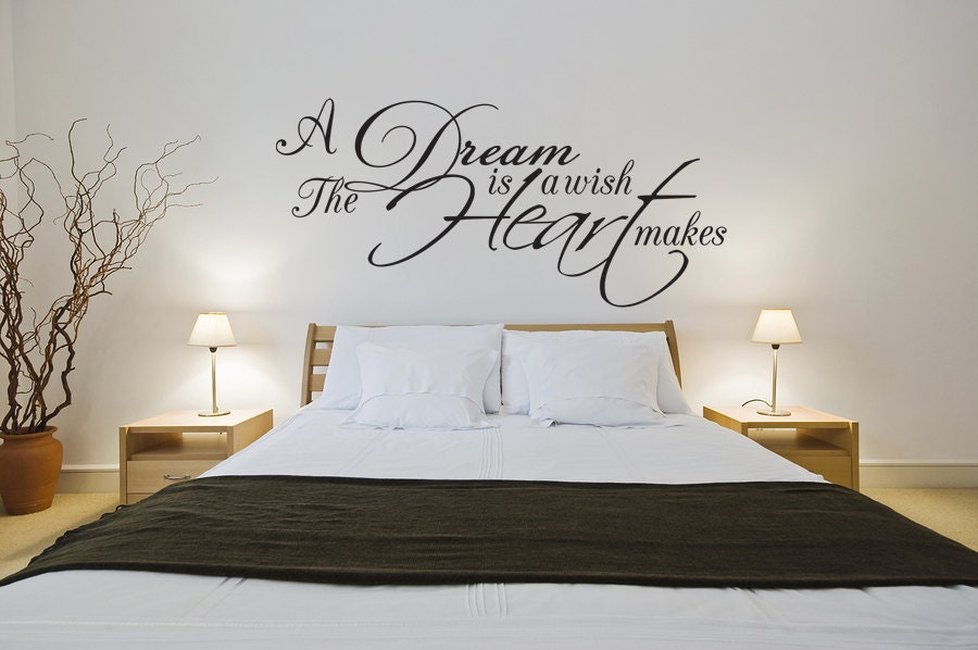 dream wish heart vinyl wall sticker decal art decor home