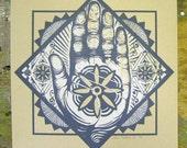 Hand Emblem screen print