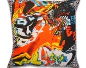 """17 inch, """"Rob"""" bright colorful contemporary modern accent pillow"""