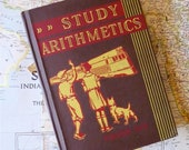 Vintage Antique Math Book, Study Arithmetics by Scott, Foresman and Co