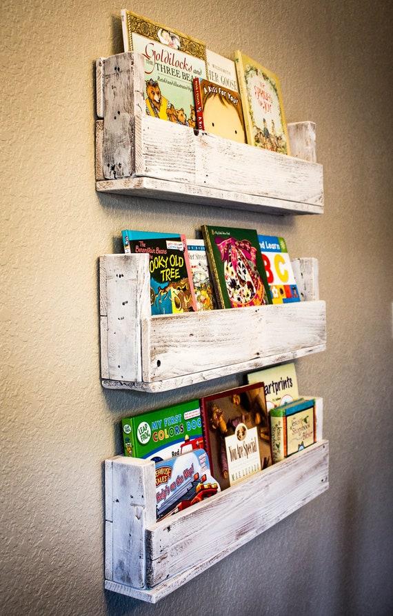 Reclaimed Wood Bookshelves (Set of 3)