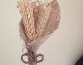 Wheat and Burlap Boutonniere