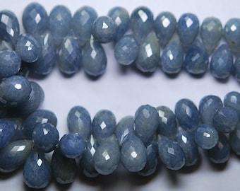 10 Pcs,African Blue Sapphire  faceted Tear Drops shaped Briolettes 15-16mm size