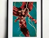 Thor Retro Pop Art A3 Poster Print